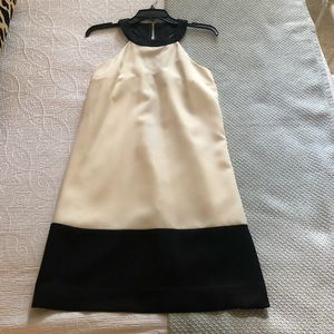 NWT Megan Masters black and cream racer back dress